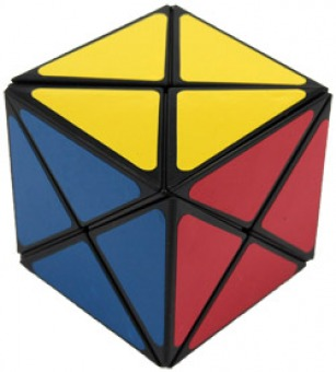 A cube that has triangles as its pieces in a cube like shape
